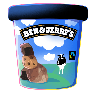 Ben and Jerry's tub