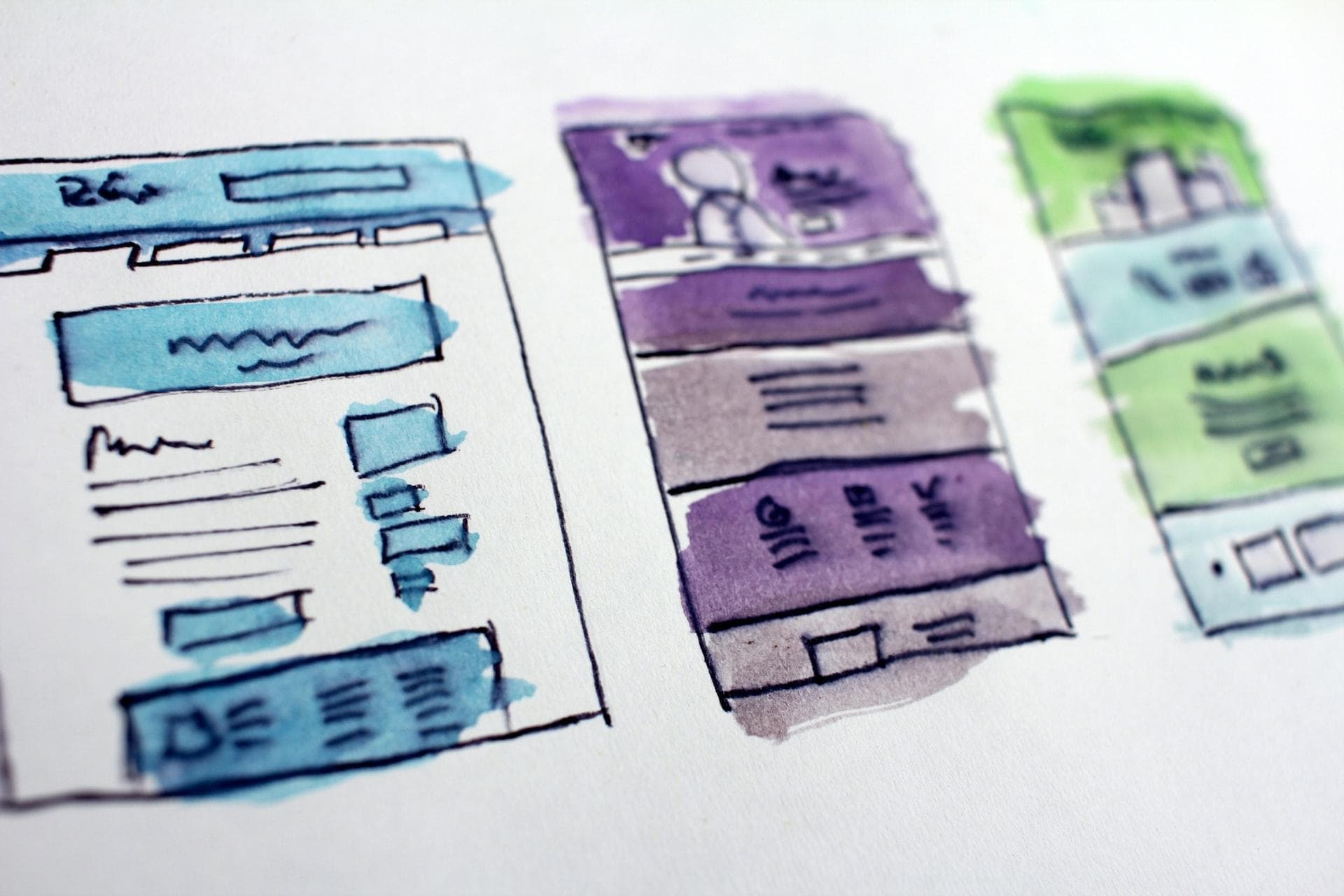 rough drafts of a website design