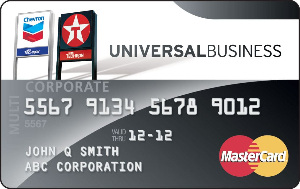 Chevron texaco universal business mastercard card