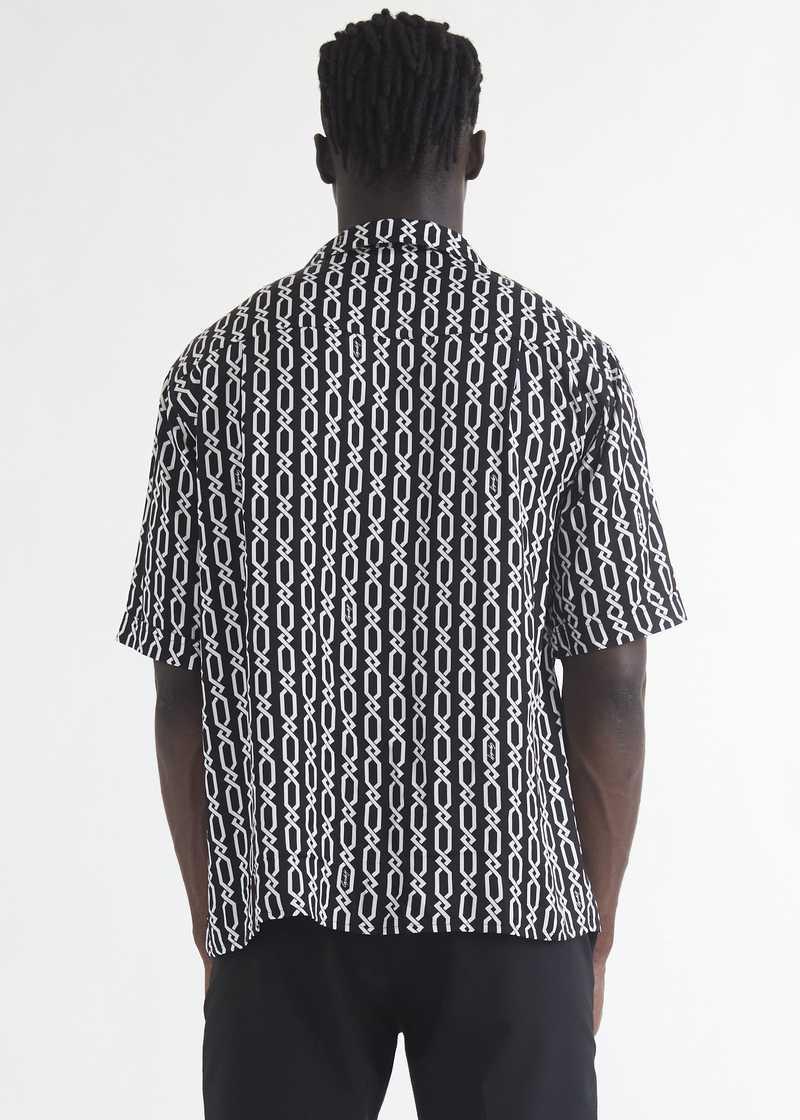Ferah  bowling Shirt with chain print back