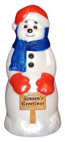 Season's Greetings Snowman photo