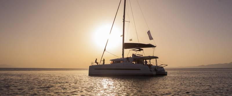 Explore the port of Korfos with yacht charters in Greece