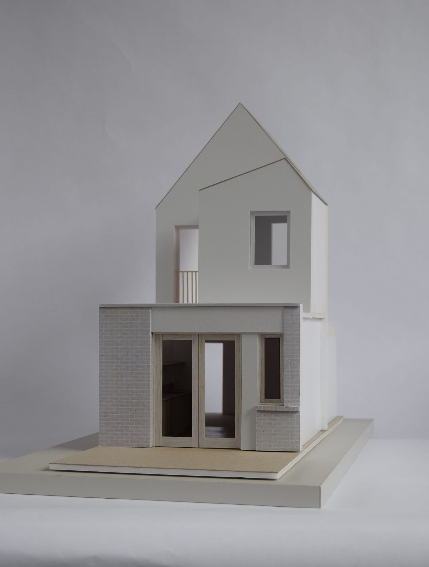 Rear elevation model for From Works' rear extension proposal in South London.