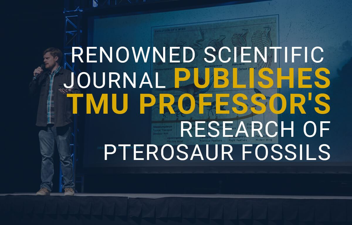 Renowned Scientific Journal Publishes TMU Professor's Research of Pterosaur Fossils