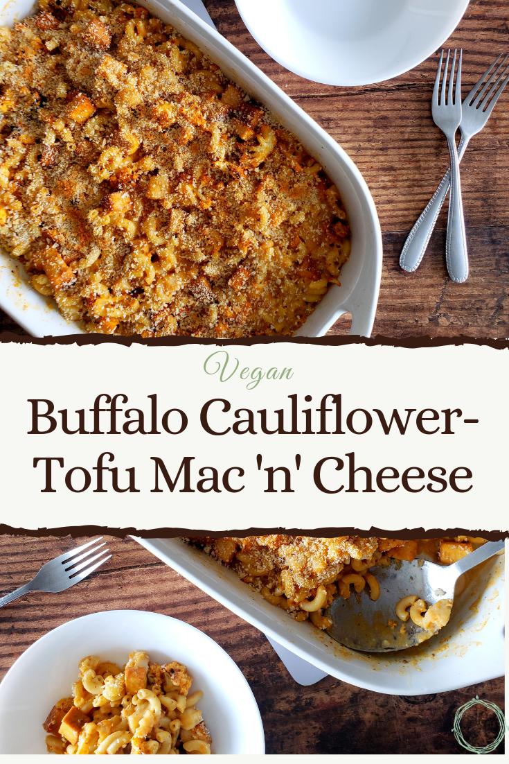 Buffalo cauliflower mac and cheese