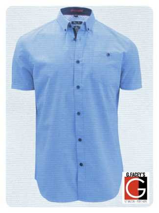 Point Zero S/S Men's Chambray Buttoned Down