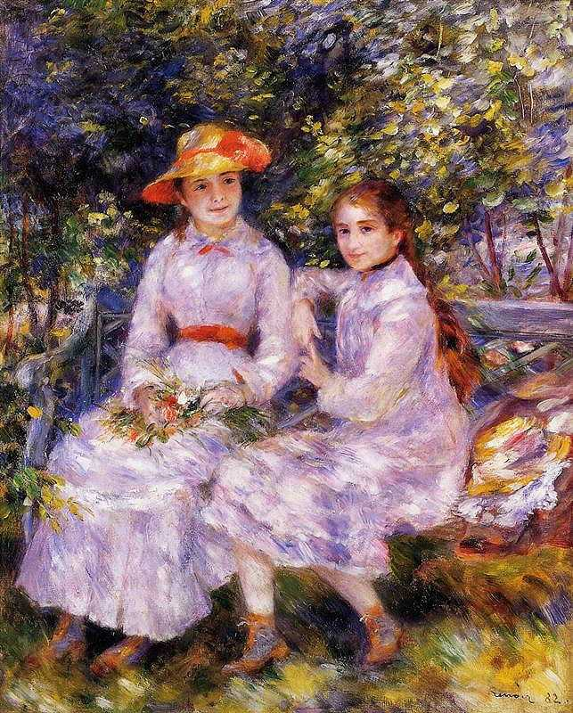 'The Daughters of Paul Durand Ruel (Marie Theresa and Jeanne)', by Pierre-Auguste Renoir in 1882, Chrysler Museum of Art, Norfolk, VA, USA