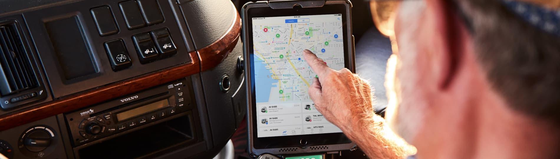 Advanced GPS fleet tracking software