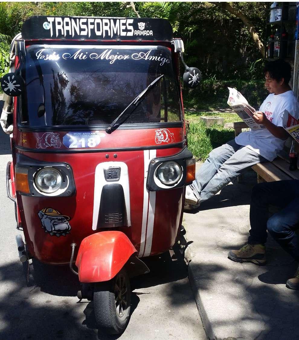 Tuktuk-Fahrer macht Pause