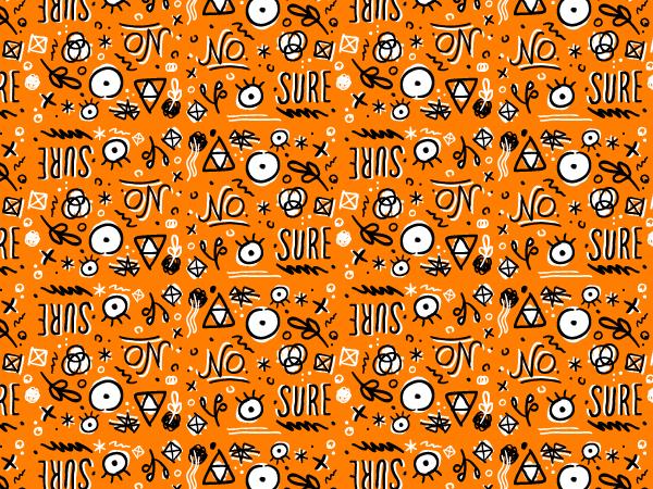 Doodled pattern