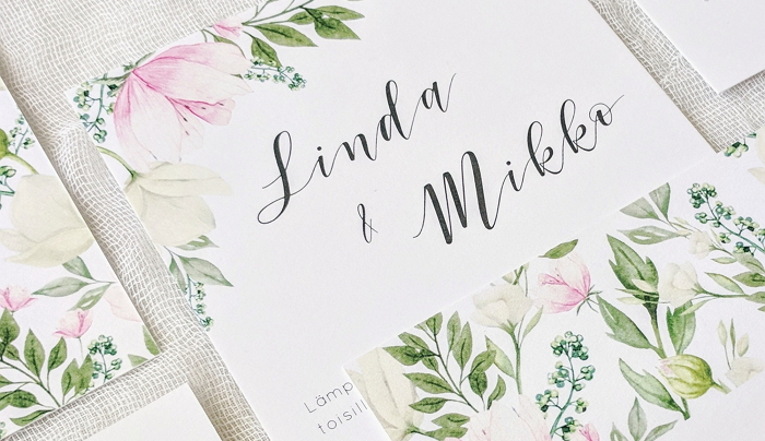 floral invitation from pre-designed collection item thumbnail