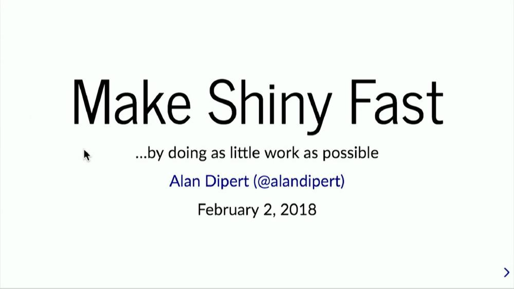 Make Shiny fast by doing as little work as possible