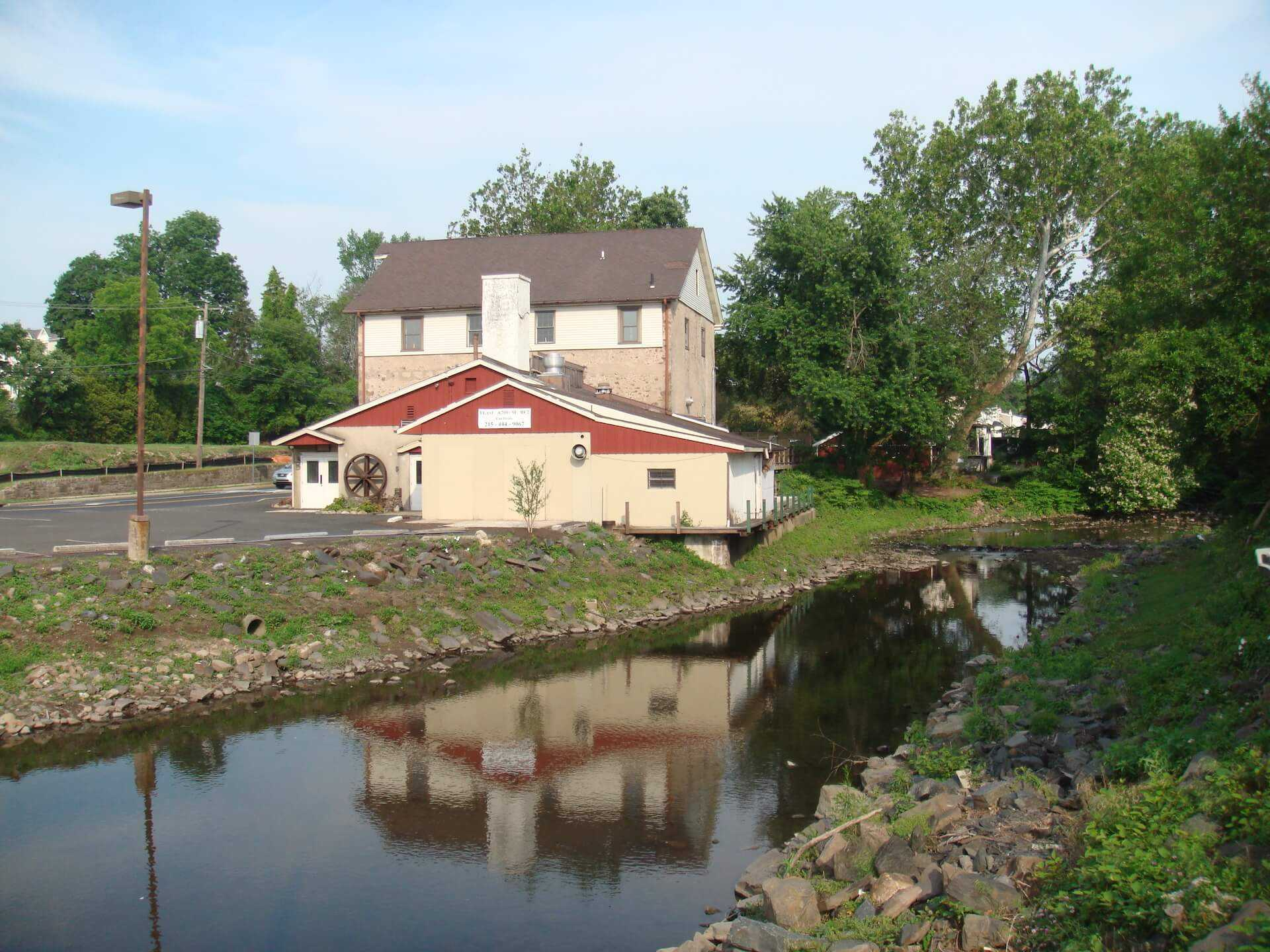 the Old Mill along the riverside