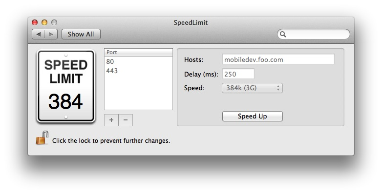 SpeedLimit screenshot