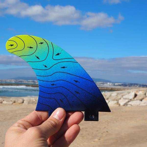 eco surf fin blue medium G5