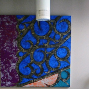 "Arvydas Pakalka, Lithuania. ""Waves"" 2003. Canvas, oil, 120x120cm"