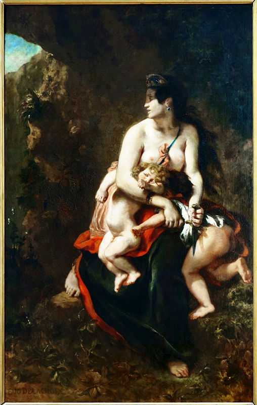 Medea about to Kill Her Children, by Eugene Delacroix in 1838