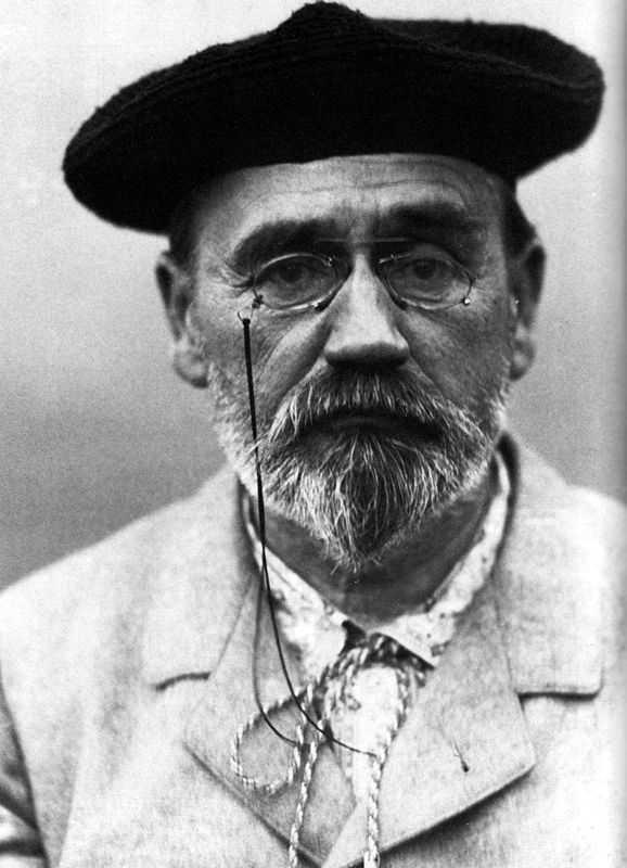 Self-portrait of Emile Zola in 1902