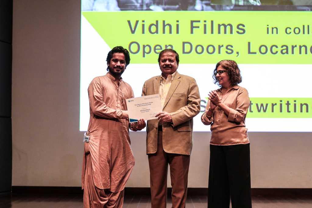 Zakir Daad Baloch wins best script in progress.
