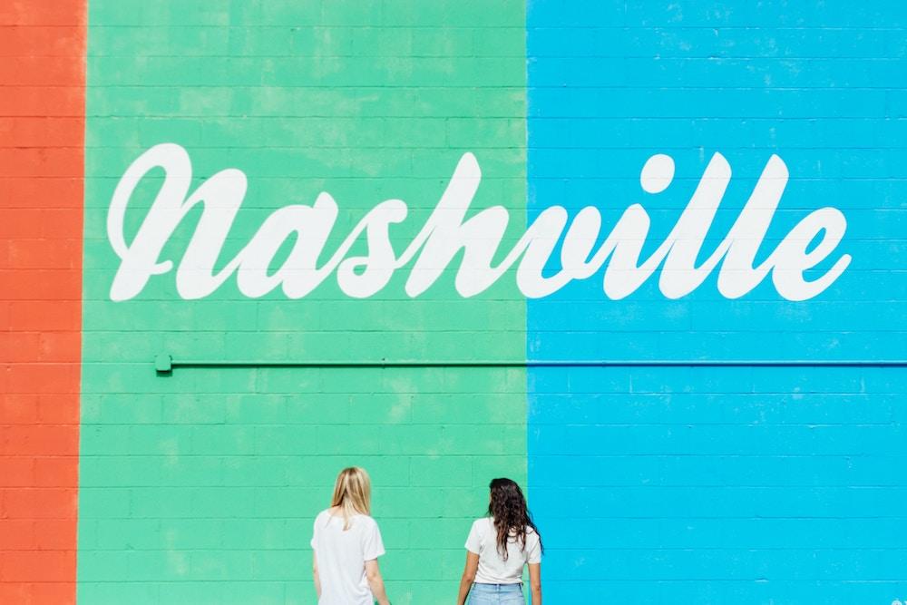 """Nashville"" painted on wall"