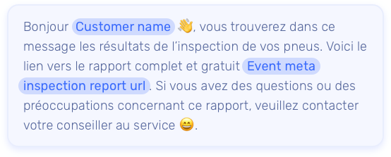 Configurez des gabarits de messages