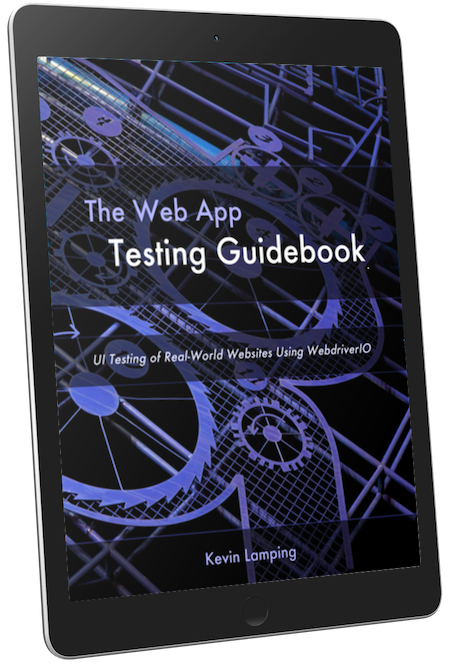 Photo of cover of The Web App Testing Guidebook