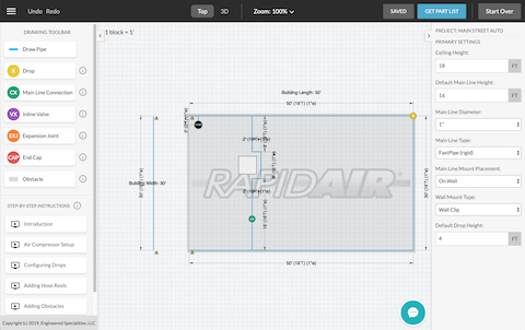 Rapid air 3d Visual Configuator