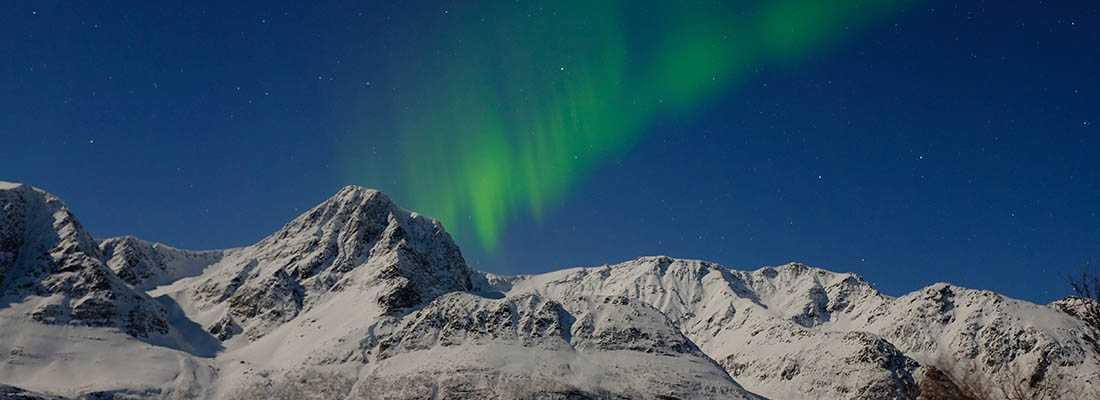 nordlys i lyngen fjord