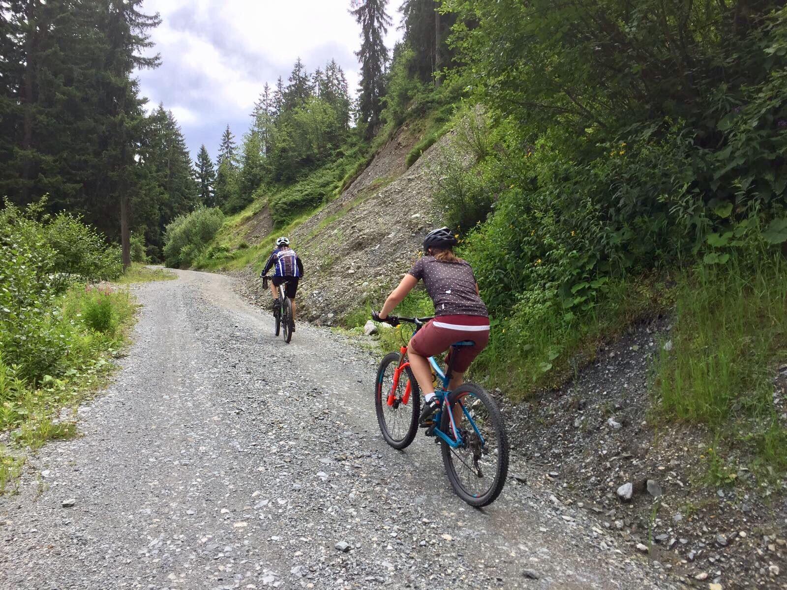 Bei der Auffahrt zum Reiterkogel