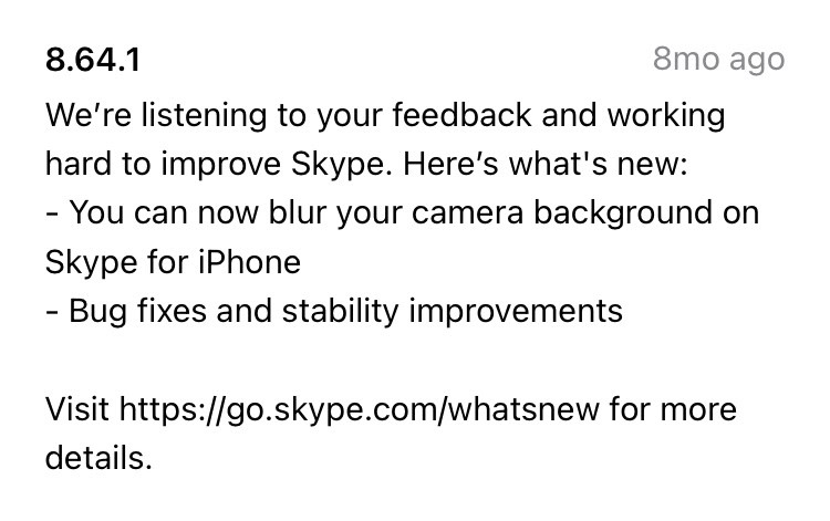 A Skype patch release
