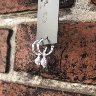 Pilgrim Mini Hoop w/ Removable Heart Charm