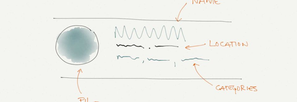 Sketched design concept