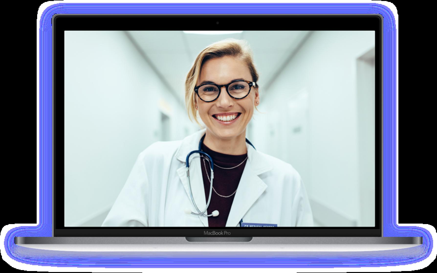 Women practicing telemedicine