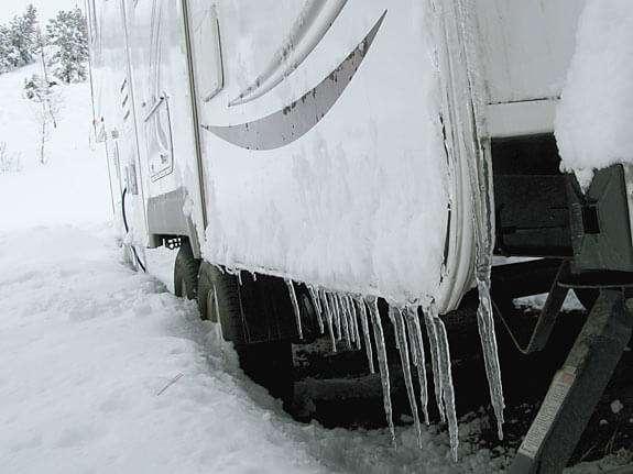 frozen camper