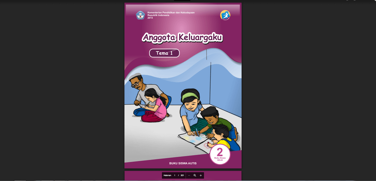 Buku Siswa Autis Kelas 2 Tema 1 Anggota Keluargaku