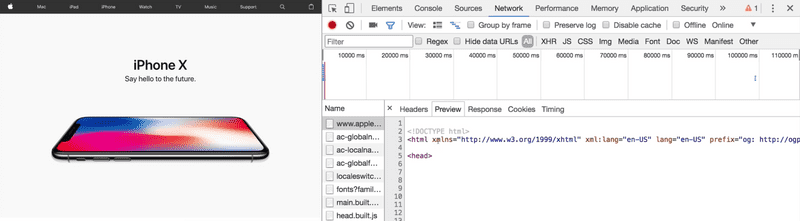Chrome Developer Tools Preview Tab