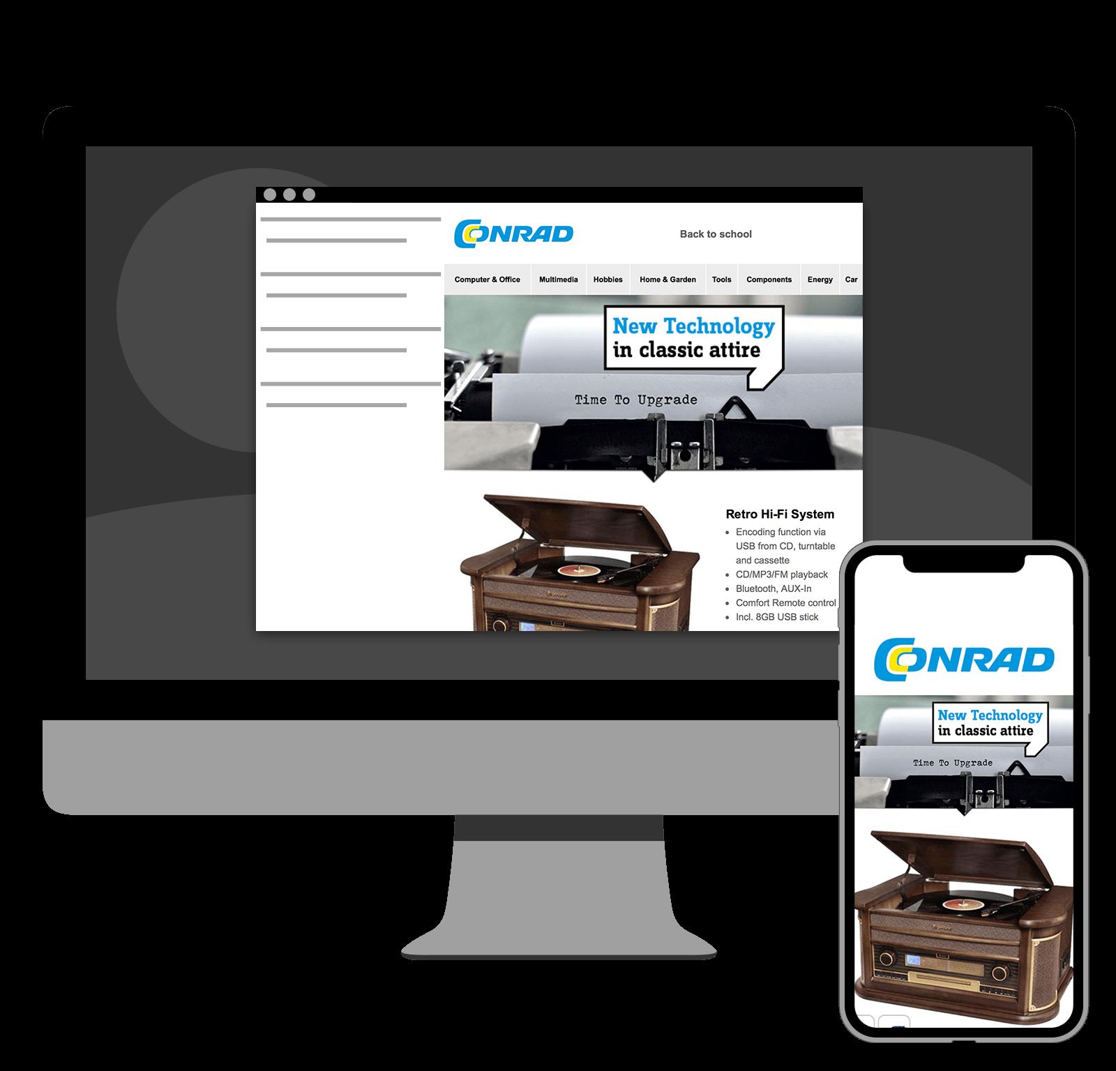 Conrad.com: Responsive newsletter preview