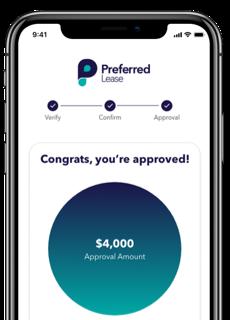 Mobile app illustrating Step 3 of 3: Get Instant Approval