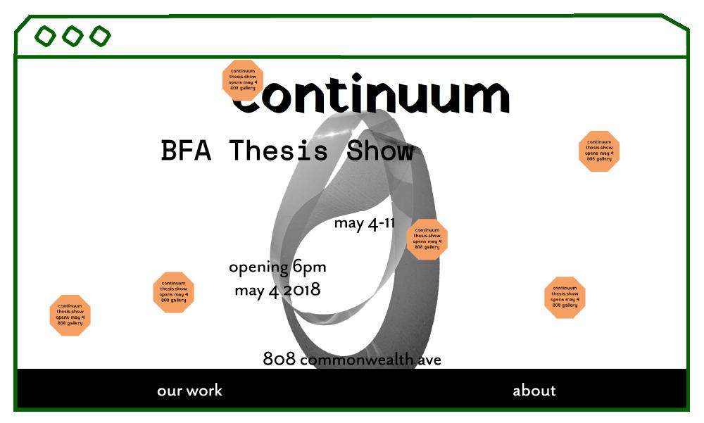 desktop display of website homepage