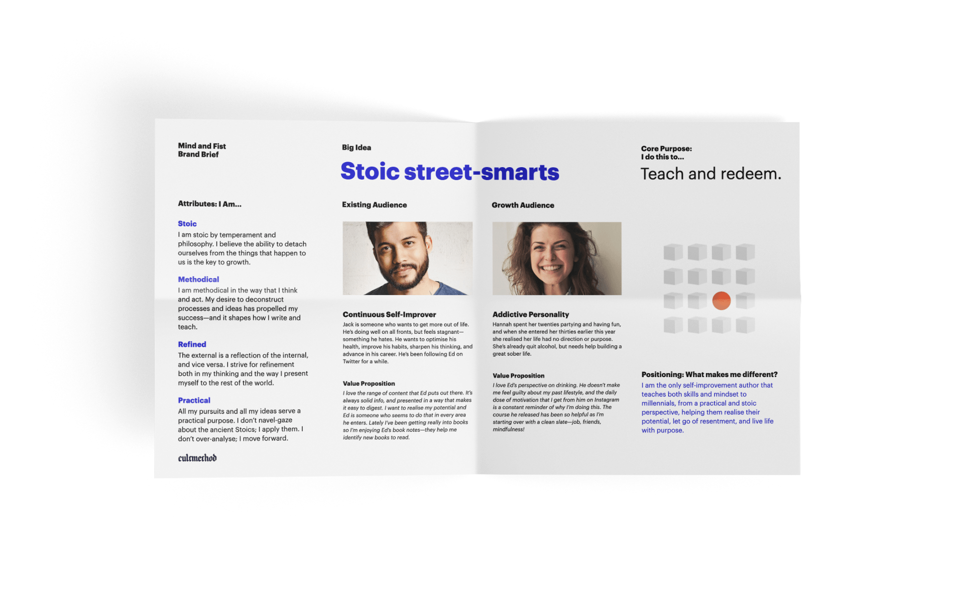 Brand brief document from strategy engagement