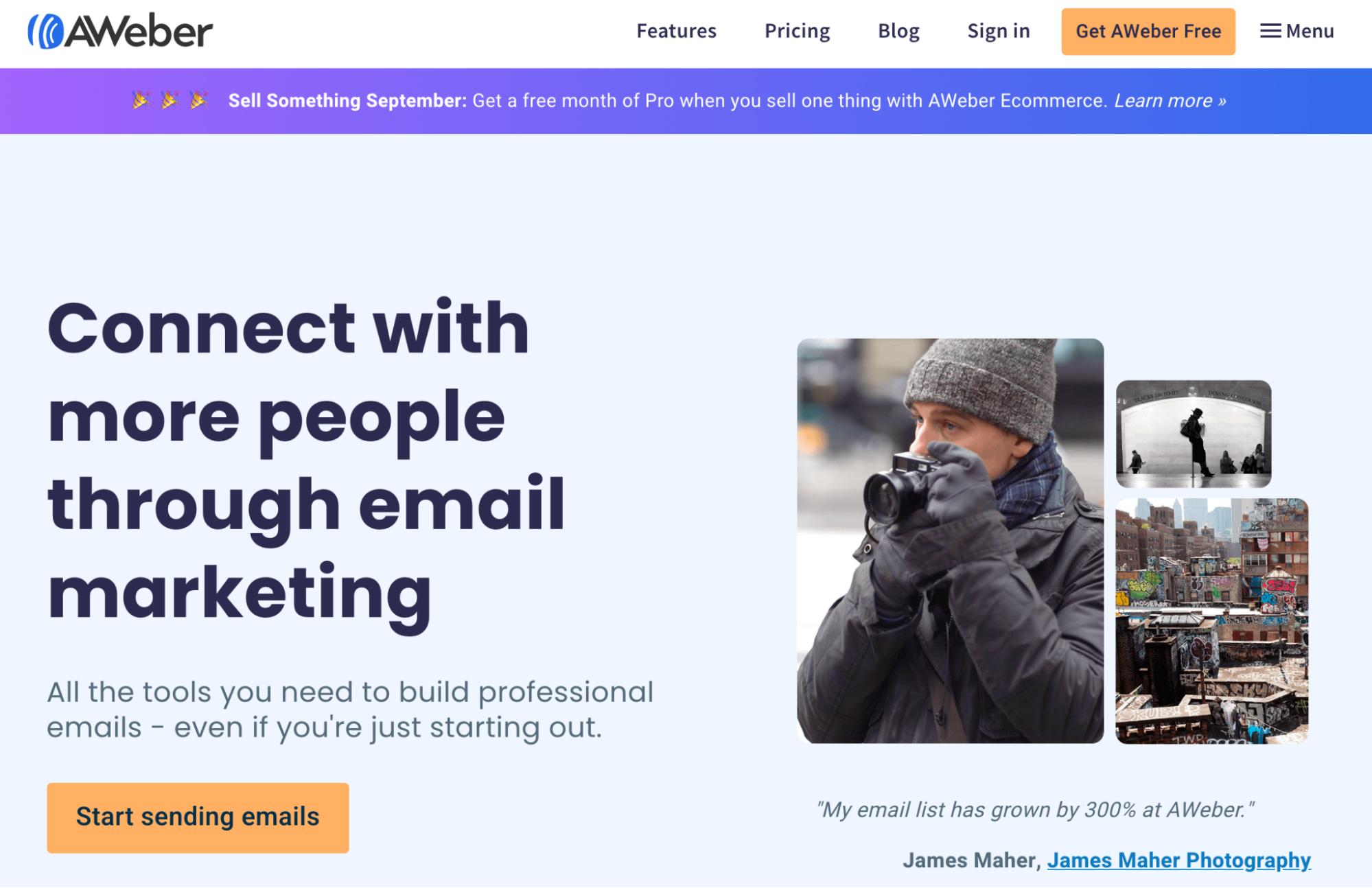 Mailchimp Alternatives: AWeber Screenshot
