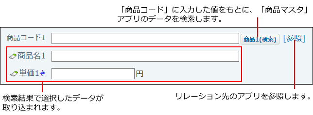 検索ルックアップのイメージ