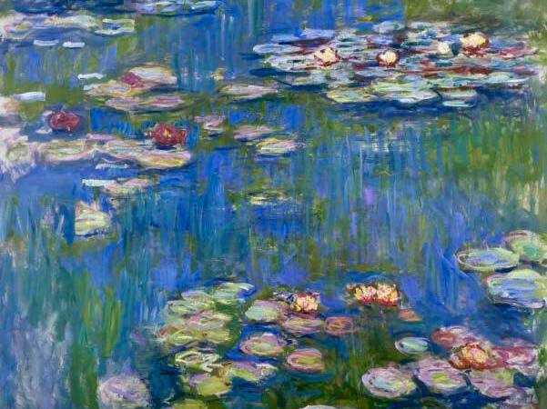 Monet's water lilies are perhaps the most famous impressionist work