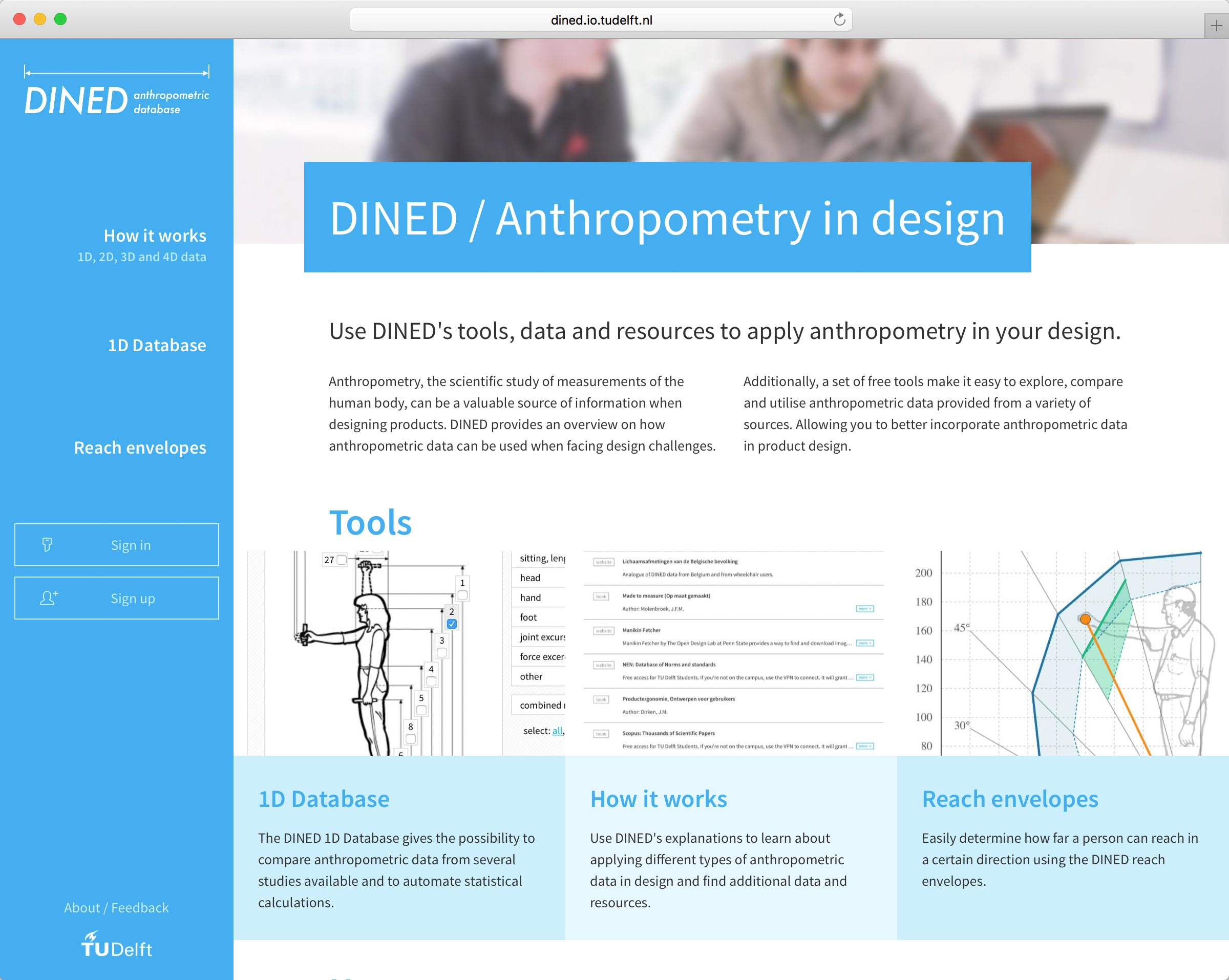 dined.io.tudelft.nl home page