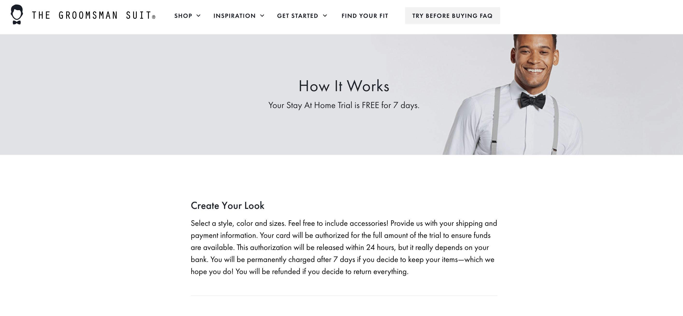 The Groomsmen Suit website