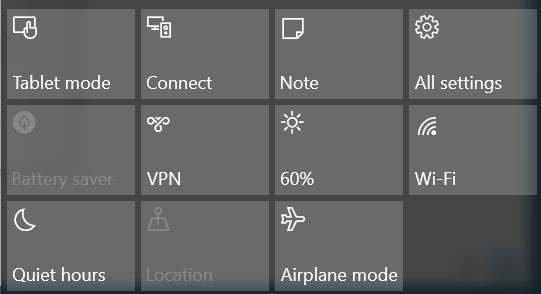 Windows battery setting airplane mode