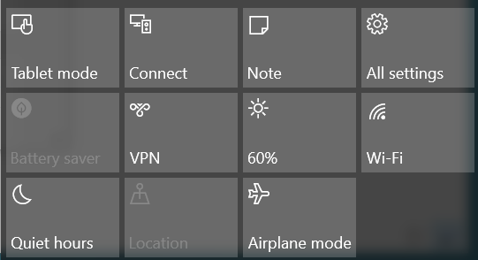 Windows battery setting airplane mode