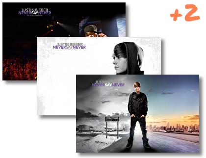 Justin Bieber Never Say Never Theme theme pack