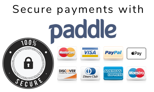 payments secured by paddle
