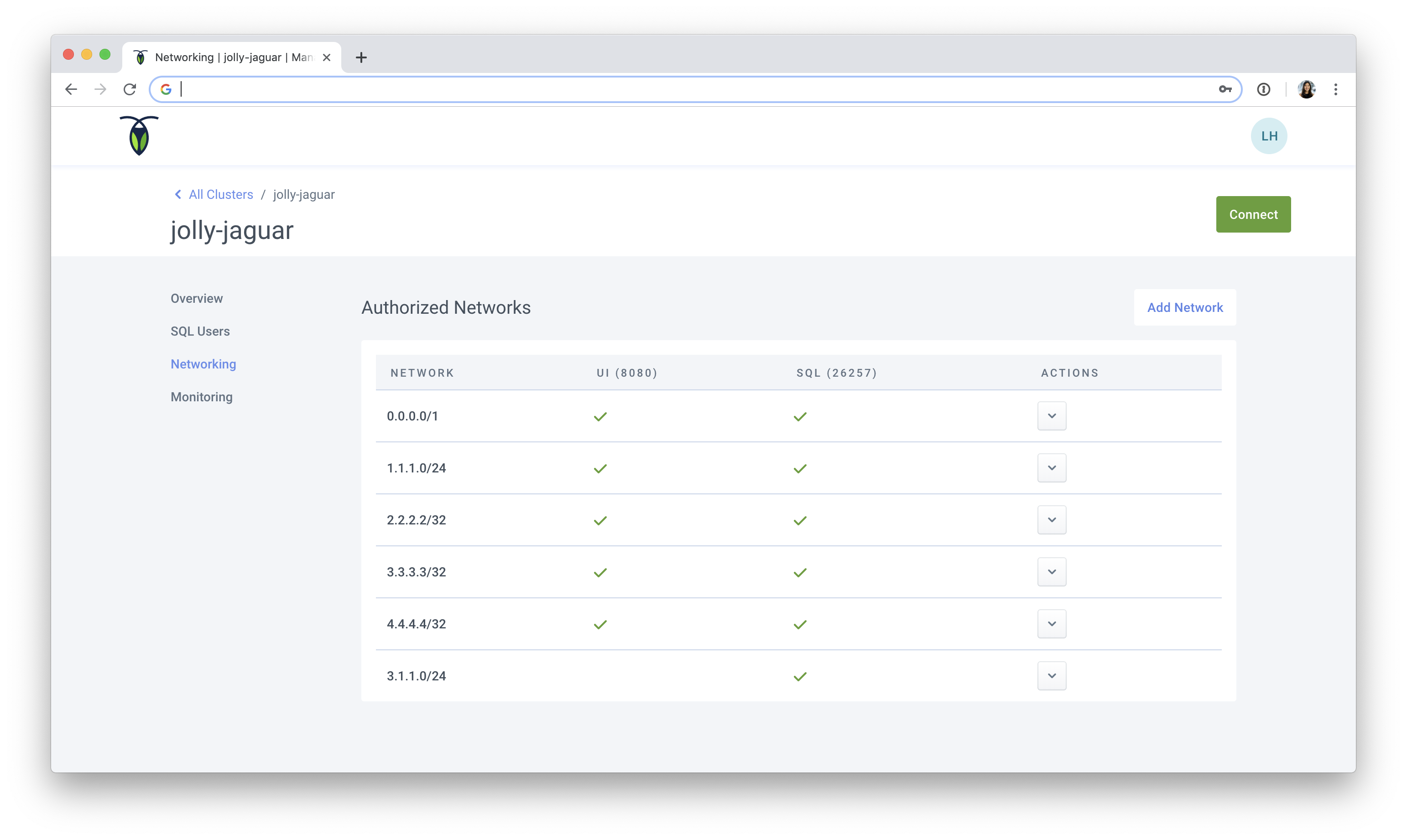 Connect to Your Managed Cluster | CockroachDB Docs